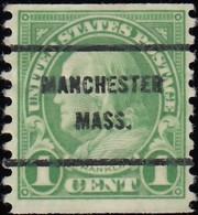 UNITED STATES - Scott #597 Franklin 'Manchester Mass.' (4) / Used Stamp - Etats-Unis