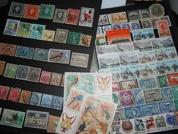 Collection , 100 Timbres Obliteres Amerique Et Divers - Timbres