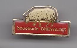 Pin's  Boucherie Chevalier Mouton Réf 4722 - Dieren