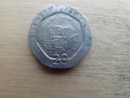 Ile De Man 20  Pence  1993  Km 391 - Monnaies Régionales