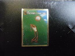 PIN'S GOLF 18° Trophée LANCOME (1987) - Golf De Saint-Nom-la-Bretèche (Yvelines) Vainqueur Ian WOOSNAM (Pays De Galles) - Golf