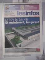 LES INFOS 2005 Le Journal D'information Interne SNCF Sous Blister TGV EST - Railway
