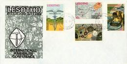 Lesotho - 1973 Kimberlite Conference FDC # SG 246-249 , Mi 147-150 - Minéraux