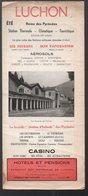 Luchon (31 Haute Garonne) Dépliant Touristique Liste Des Hotels Et Restaurants (PPP9957) - Dépliants Turistici