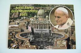 JOANNES PAULUS  PP. II   PAPA  WOITILA   ANNO SANTO   DELLA REDENZIONE  1983  PAPST  POPE POSTCARD UNUSED - Papi