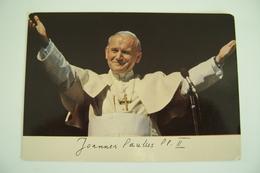 JOANNES PAULUS  PP. II   PAPA  WOITILA     PAPST  POPE POSTCARD UNUSED - Papi