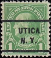 UNITED STATES - Scott #632 Franklin 'Utica N.Y.' (8) / Used Stamp - Etats-Unis