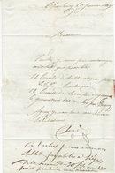 LAC De CHARLEROY 4/01/1847 ( Belle Frappe) > LIEGE  H. DESSAIN éditeur-imprimeur-signé Boué Libraire à CHARLEROI - 1830-1849 (Belgique Indépendante)