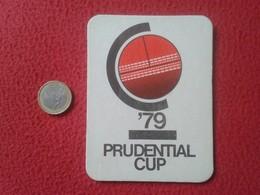 POSAVASOS COASTER MAT O SIMIL CRICKET ? CRIQUET PRUDENTIAL CUP 79 1979 COPA CALENDAR SPORT AUSTRALIA INDIA PAKISTAN..... - Portavasos