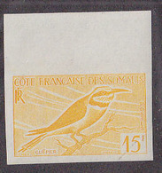Somali Coast (1960) Bee Eater. Trial Color Proof.  Scott No 284, Yvert No 298. - Songbirds & Tree Dwellers
