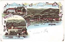 1898 Gelaufene Lithokarte Aus Persenbeug Nach Görz - Österreich