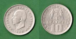 B-36818 Greece 1959. King Paul I. 10 Drachmas. Coin. - Grèce