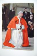 PAPA  PAOLO  VI POPE PAPST POSTCARD USED - Papi