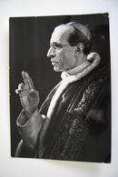 PAPA   PIO XII  PAPST POPE    POSTCARD  USED CONDITION PHOTO  BOLLO RIMOSSO - Papi