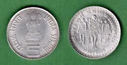 B-36812 India 2005. Mahatma Gandhi. Five Rupees. Coin - Inde