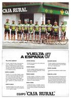 CARTE CYCLISME GROUPE TEAM CAJARURAL TOUR D'ESPAGNE 1987 - Radsport