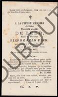 Doodsprentje Eléonore Jeanne De Beer °1798 Gent †1877 Detroit /Echtg. Pierre Jean Pins  (F212) - Obituary Notices