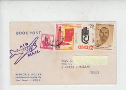 INDIA  1973 - Yvert 349-351-359 - Lettera Per Italia - India
