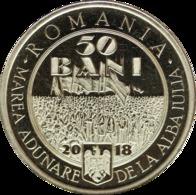 ROMANIA -2018-  50 BANI  - COMMEMORATIVE COINS - 100 Years Since The Union Of TRANSYLVANIA With Romania UNC - Romania
