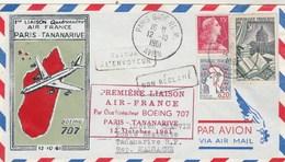 12 Octobre 1961 Première Liaison AIR FRANCE  - Paris Tananarive Par Boeing 707 - Avions