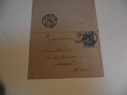 Carte Lettre, Entier Postal, 1895, Nevers à Limoges - Marcofilie (Brieven)