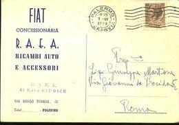 WD108 PALERMO - COMMERCIALE CONCESSIONARIA FIAT , VIA TURRISI 32 - Palermo
