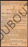 Doodsprentje Zuster/Soeur Anna Maria Virginia Peeters °1866 Erps-Kwerps †1898   (F213) - Obituary Notices
