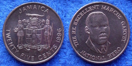 "JAMAICA - 25 Cents 1996 ""Marcus Garvey"" KM#167 Decimal Coinage - Edelweiss Coins - Jamaica"