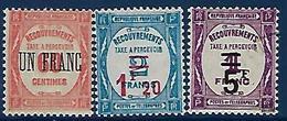 "FR Taxe YT 63 à 65 "" Taxes Surchargées "" 1929-31 Neuf** - 1859-1955 Mint/hinged"