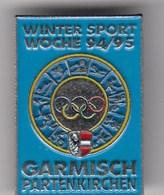 Pin Badge Garmisch Partenkirchen Winter Sport Week 1994-95 Olympics Logo Olympia Olympic Germany - Olympic Games