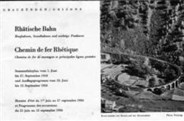 Chemin De Fer - Rhétique - Grisons - Chur - Thusis - Engadin - Mustèr - 26 Pages - - Railway