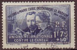 FRANCE - 1938 - YT N° 402  - Oblitéré - Pierre Et Marie Curie - France