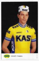 CARTE CYCLISME FREDERIC VICHOT TEAM KAS 1987 - Radsport
