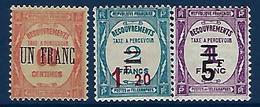 "FR Taxe YT 63 à 65 "" Taxes Surchargées "" 1929-31 Neuf* - Segnatasse"