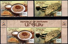 """Artsakh 2018 """"Gastronomy. National Cuisine."""" 2v & 2v Zd Quality:100% - Arménie"""