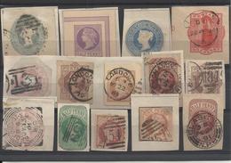 Fragments D'entiers Postaux Oblitérés - Grande Bretagne - 1840-1901 (Victoria)