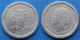 """JAMAICA - 5 Dollars 1996 """"Norman Manley"""" KM# 163 Decimal Coinage - Edelweiss Coins - Jamaica"""