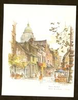 Impression D'une Illustration Aquarelle - Bruxelles - Rue Des Renards - Estampes & Gravures