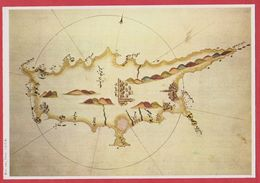 Chypre, D'après Un Portulan De L'amiral Piri Reïs. 1525. 1970. - Vieux Papiers