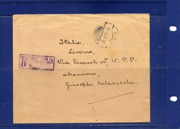 ##(ROYBOX1)-Postal History-Poland 1921-Registered Cover From Warszawa To Livorno - Italy - Franked On Back Cover - 1919-1939 Repubblica
