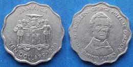 "JAMAICA - 10 Dollars 1999 ""George William Gordon"" KM# 181 Decimal Coinage - Edelweiss Coins - Jamaica"