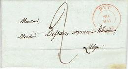 LAC De HUY Datée Du 20 Mai 1847 Vers LIEGE - Belle Frappe - Port De 2 Décimes - Signé DELCHAMBRE - 1830-1849 (Belgique Indépendante)