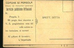 WD111 PERGOLA 1931 - COMMERCIALE PUBBLICHE AFFISSIONI ( DOPPIA) - Italia