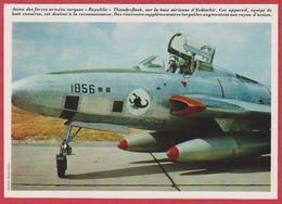 """Avion Des Forces Armées Turques """"Republic"""" Thuderflash. 1970. - Vieux Papiers"""