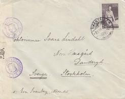 Finnland: 1941: Naantali Nach Stockholm; Zensur - Non Classés
