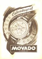 """PUB MONTRE  CALENDOGRAF  """" MOVADO  """"  1950'S ( 5 ) - Gioielli & Orologeria"""
