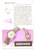 """PUB MONTRE    """" MOVADO  """"  1950'S ( 7 ) - Bijoux & Horlogerie"""