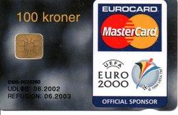 Télécarte Danemark Mastercard Football UEFA EURO 2000 - Eurocard  BANK Banque Phonecard  (G 573) - Danemark