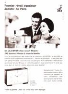 "PUB RADIO REVEIL  JAZISTOR  ( MILORD  )  "" JAZ  ""  1965 - Bijoux & Horlogerie"