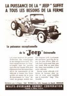 "PUB    JEEP   "" WILLIS-OVERLAND  ""  1948 ( 5) - Transportation"